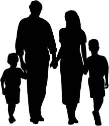 Mother And Son Discover Guest Post: Growing Up with Disabled Siblings Silhouette Family, Princess Silhouette, Silhouette Painting, Silhouette Clip Art, Family Sketch, Family Drawing, Family Tattoo Designs, Family Tattoos, Simple Artwork