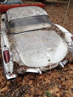 1960 Corvette. Considering the value that Corvettes have always had it's very surprising to find an intact one wasting away in a junkyard.