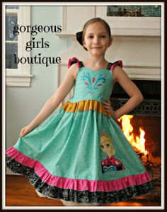 Pretty Little Dress, Little Dresses, Disney Outfits, Kids Outfits, Elsa Coronation, Frozen Dress, Girls Boutique, Custom Dresses, Disney Inspired