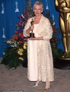 """71st Academy Awards® (1999) ~ Judi Dench won the Best Supporting Actress Oscar® for her performance in """"Shakespeare in Love"""" (1998)"""