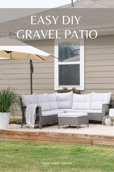 We built this DIY gravel patio in 2 days and for under $500 in materials. Click to read our step-by-step approach. #backyardmakeover