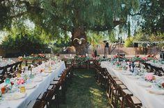 colorful fiesta backyard wedding