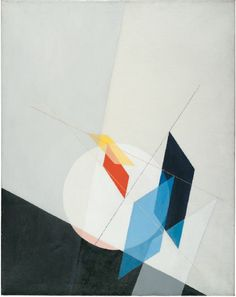 Laszlo Moholy-Nagy painting on canvas, via Custhom