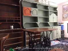 ÚJ ÉV - ÚJ OTTHON: Bonanza bútor átfestése Corner Desk, Shelving, Bookcase, Furniture, Home Decor, Garden, Flow, Vintage, Corner Table