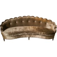 A Hollywood Regency Scalloped Sofa by Dorothy Draper
