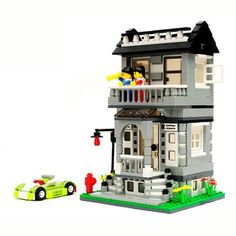 Exquisite Villa Playing House Model Assembly Blocks Toy