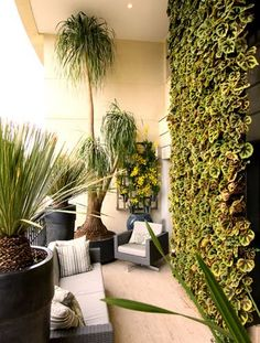 green balcony