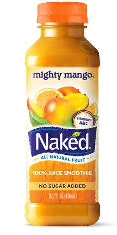 Naked Juice :: mighty mango smoothie is so delish!!!!  100% fruit and the container is made from recycled bottles!