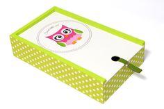 Pudełko 'Sweet owl 2'' w White Blue na DaWanda.com
