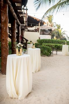beach wedding reception - photo by Cynthia Rose Photography… Decoration Cocktail, Cocktail Table Decor, Cocktail Tables, Cocktail Parties, Cocktail Wedding Reception, Outdoor Wedding Reception, Wedding Table, Garden Wedding, Reception Ideas