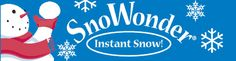 Make INSTANT artificial snow from powder! SnoWonder is the most amazing fake snow on the market! WHEN YOU ADD WATER TO OUR POWDER IT ERUPTS INTO ARTIFICIAL SNOW IN A FEW SECONDS WITH NO MIXING - and Artificial Snow Is Environmentally Safe! EVERY ITEM WE SELL IS ON SALE!... FREE U.S. SHIPPING on orders over $16.00 (except Snowfall Machine items)