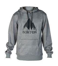 BURTON MENS CROWN BONDED PULLOVER HOODIE Grey
