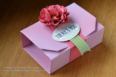 The no cut, 12 x 12 sheet, Gift Box with Paper flower embellishment. Chalk Talk tag
