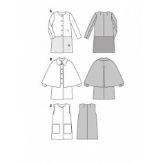 B6986 - Coats & Jackets - Burda Patterns