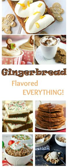 These gingerbread recipes are not your typical boring cookies and poorly constructed houses. Find recipes for gingerbread pancakes, gingerbread hot chocolate, gingerbread oatmeal and MORE! Holiday Snacks, Christmas Desserts, Christmas Baking, Christmas Recipes, Holiday Activities, Christmas Ideas, Preschool Christmas, Christmas Cookies, Merry Christmas