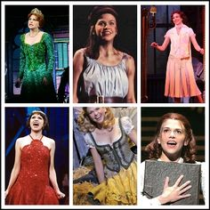 Sutton Foster in Little Women, Shrek, Young Frankenstein, The Drowsy Chaperone, Thoroughly Modern Millie and Les Miserablés