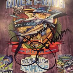 WIN: Snag this one-of-a-kind @tunaskin shirt signed by THE Jimmy Johnson! This is a Twitter contest because Jimmy loves Twitter  so go find us there and play along! We are @jjfishweek there as well. Winner announced Saturday! Good luck  by jjfishweek