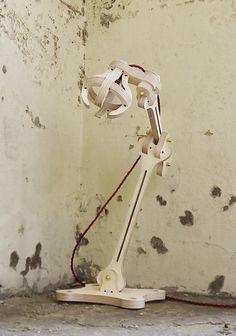 'Bones' Desk Lamp by Svetlana Korunoska, via Behance