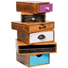 Retro ladekast Mali Blue 64 | kastje met losse lades