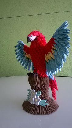 how to make red macaw origami tutoring Origami Toys, Origami Modular, Instruções Origami, Origami Dragon, Origami Fish, Origami Bookmark, Origami Folding, Paper Crafts Origami, Origami Animals