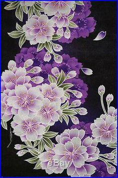 Purple and black Sakura wallpaper Japanese Quilt Patterns, Japanese Quilts, Japanese Textiles, Japanese Fabric, Japanese Art, Textile Patterns, Oriental Wallpaper, Artistic Wallpaper, Beautiful Nature Wallpaper
