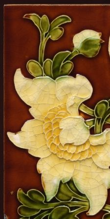 Arts & Crafts floral majolica tile (detail) by Lewis Day, 6 x Art Nouveau Tiles, Art Nouveau Design, Design Art, Motifs Art Nouveau, Azulejos Art Nouveau, Antique Tiles, Vintage Tile, Art Moderne, Decorative Tile