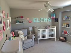 Elena's Pink, Aqua and Gray Nursery - Project Nursery
