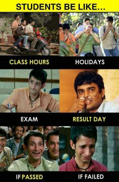 college funny memes ll youll enjoy at every time Funny College Memes, Exams Funny, Funny School Jokes, Some Funny Jokes, Crazy Funny Memes, School Memes, Funny Facts, Hilarious, Bollywood Funny