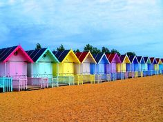 beach huts - west mersea UK