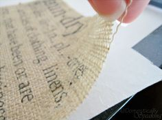 how to print on burlap, diy home crafts, Removing burlap from freezer paper