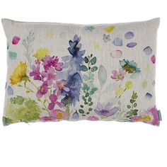 Bluebellgray Catherine Cushion - 61x45cm (330 BRL) ❤ liked on Polyvore featuring home, home decor, throw pillows, multi, flower stem, inspirational home decor, linen throw pillows, floral home decor and bluebellgray