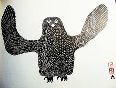 stickers and stuff: Eskimo Prints - James A. Arte Inuit, Inuit Art, Owl Art, Bird Art, Canadian Art, Indigenous Art, Naive Art, Aboriginal Art, Native American Art
