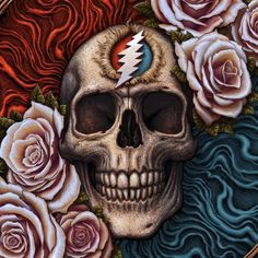 Grateful Dead x N. Winters x Coming. Grateful Dead Tattoo, Grateful Dead Skull, Grateful Dead Poster, Queen Poster, Dead And Company, Hippie Art, Hippie Style, Forever Grateful, Cool Art Drawings