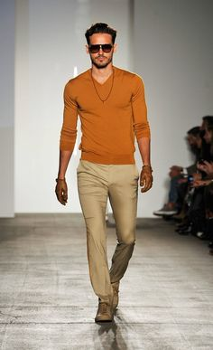 Lightweight, relaxed style: like a desert sunset. Great weekend afternoon fashion.