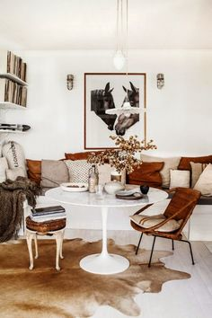 I love the combination of tan and white in this living room.