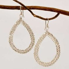 Sonjarenee Sterling Silver Teardrops with Wire Wrapped Beads from Sage Accessories