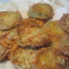 Fried Green Tomatoes Recipe. Use any combination of cornmeal or flour to dip them in.