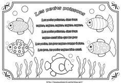 Comptine les petits poissons illustrée par nounoudunord Imprimer le coloriage grand format en fichier PDF cliquez : .ici. cliquez.ici.pour découvrir d' autres comptines. comptine en vidéo cliquez /ici/ ...