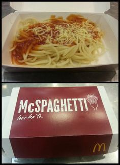 The Philippines does spaghetti.... At McDonald's -