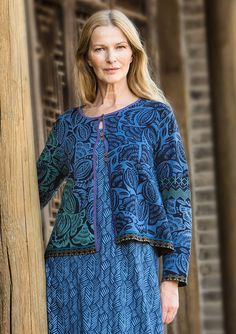 """""""Bali"""" cardigan in eco-cotton – Size XXL – GUDRUN SJÖDÉN – Webshop, mail order and boutiques   Colorful clothes and home textiles in natural materials."""