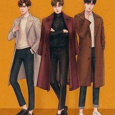 Anime Boy Sketch, Cinderella And Four Knights, Wattpad Book Covers, Kpop Drawings, Fashion Figures, Handsome Anime Guys, Korean Art, Foto Art, Fanarts Anime