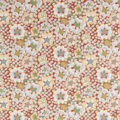 Tapet Eldblomman - Non-Woven, Eldblomman, Röd, Josef Frank Josef Frank, Japanese Interior Design, Swedish Design, Wallpaper Samples, Pattern Wallpaper, Unique Wallpaper, Swedish Wallpaper, Happy Design, Wall Treatments