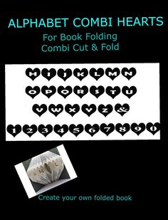 Book Folding PATTERN create your own folded book art ~Heart thro Aunty 500 pgs