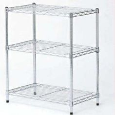 3-Shelf Zinc Finish Commercial Shelving - The Home Depot (laundry room)