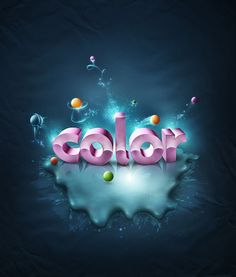 Photoshop Tutorial:  Looking for a new effect to use on your text in Photoshop? This tutorial will show you how to make colorful and creative 3D text to use with your designs.