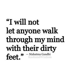 Ghandi is so right