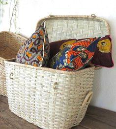Trunk storage / Handmade borassus stem trunk basket