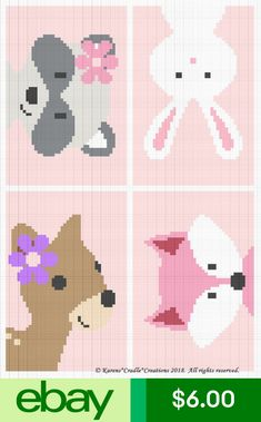 Most current Screen Crochet baby girl afghan Tips Crochet Patterns – Woodland Animal Friends Baby Girl Graph/Chart Afghan Pattern Crochet Afghans, Motifs Afghans, Crochet Baby Blanket Beginner, Baby Girl Crochet Blanket, Crochet Stitches Patterns, Crochet Baby Booties, Crochet Chart, Baby Patterns, Baby Knitting