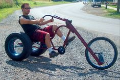 Cruise in style on your own custom built Phat Ass Chopper Trike. Bike Wagon, Trike Bicycle, Trike Motorcycle, Bicycle Pedals, Motorcycle Style, Motorcycle Quotes, Custom Trikes, Custom Choppers, Custom Motorcycles