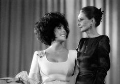 Audrey Hepburn with actress Elizabeth Taylor during a charity dinner for Art Against AIDS in Switzerland (June 11, 1991).    Hepburn and Taylor both did test shots for the movie Quo Vadis. Although Taylor was given the role of Lygia originally, Deborah Kerr ended up in the movie.